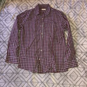 Men's Red and White Sonoma Long Sleeve Button Down